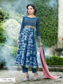 Vibrant In Style Blue color Georgette Print Suit