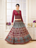 Classy & Stylish Royal Pink Color Semi lawn Suit