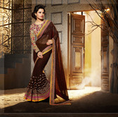 Delightful & Charming Yellow Colored Georgette Saree