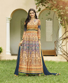 Vibrant & Irresistible  Multi Colored Designer Semi Stitched Salwar Suit
