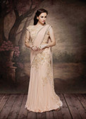 Alluring & Graceful Light Pink Color Net & Lycra Saree