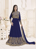 Fascinating & Trendy Navy Blue Colored Georgette Suit