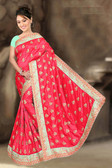 Attractive & Classy Pink Colored Two Tone Silk Saree