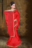 Attractive & Classy Red Colored Zapata Silk Saree