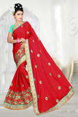 Attractive & Classy Maroon Colored Two Tone Barfi Silk Saree