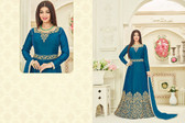 Stylish & Vibrant Blue Colored Joya Silk Two Tone Suit