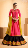 Vibrant & Casual Pink Colored Jam Silk Cotton Designer Suit