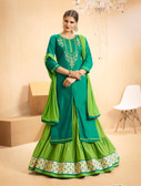 Vibrant & Casual Sea Green Colored Jam Silk Cotton Suit