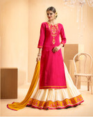 Vibrant & Casual Pink Colored Jam Silk Cotton Premium Suit