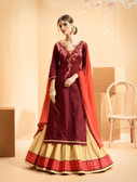 Vibrant & Casual Maroon Colored Jam Silk Cotton Premium Suit