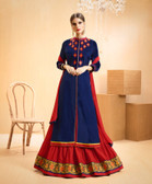 Vibrant & Casual Navy Blue Colored Jam Silk Cotton Suit