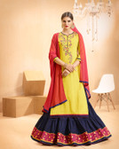 Vibrant & Casual Yellow Colored Jam Silk Cotton Suit