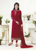 Elegant & Catchy Maroon Color Georgette Suit