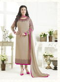 Elegant & Catchy Grey Colored Georgette Suit
