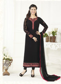 Elegant & Catchy Black Colored Georgette Suit