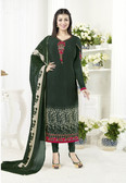 Elegant & Classy Dark Green Colored Crepe Suit