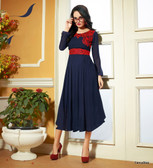 Color Blue Pure Bamberg Georgette Kurti Dress