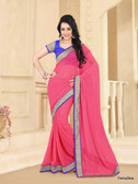 Beautifully Casual Dusty Pink Color Pure Georgette Saree