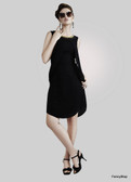 Lovely & Stylish Black Color Georgette Kurti