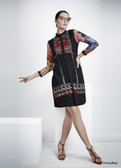 Lovely & Stylish Georgette Kurti Black Color