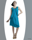 Lovely & Stylish Sky Blue Color Georgette Kurti