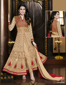 Fabulous Beige Color Georgette Suit