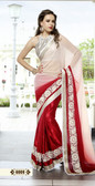 Dashing Elegant Designer Sarees Red and White