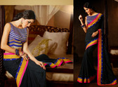 Desire Amazing Designer Saree Black Base