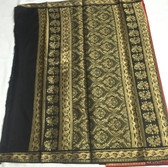 Simple & Elegant Black & Red Color Light-weight Banarasi Saree