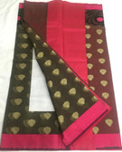 Beautiful Black and Pink Dry Resham Saree