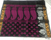 Beautiful Black Base Cotton Silk Saree