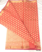 Elegant Peach Color Silk Cotton Saree