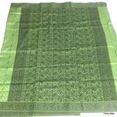 Beautiful Green Self Printed Konchai Silk Saree