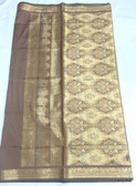 Simple & Elegant Brown Color Light Weight Banarasi Saree