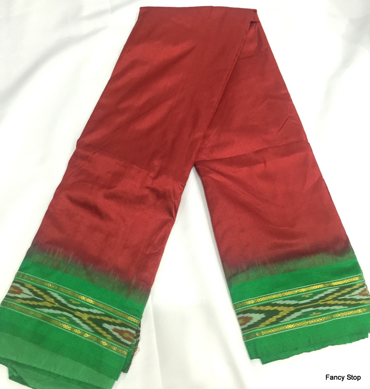 7a2316abcab558 Simple & Elegant Dark Red Color Pure South Silk Saree With Green ...