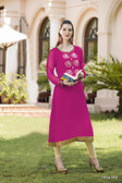 Beautiful & Elegant Pink Color Georgette Kurti