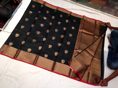 Antique kadwa butta sico katan saree