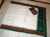 Katan benarasi border muslin jamdani silk saree all over work