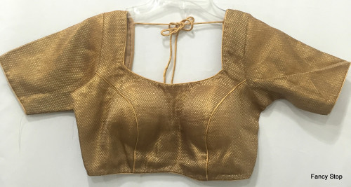 Designer Padded Saree Blouse Choli Copper Halfsleeves Ships From USA