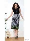 Beautifully Styled Black Color Faux Georgette Kurti
