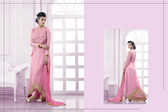 Lively & Classy Pink Colored Faux Georgette Suit