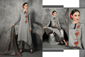 Stylish & Contemporary Grey Colored Cambric Cotton Embroidered Suit