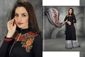 Stylish & Contemporary Black Colored Cambric Cotton Embroidered Suit