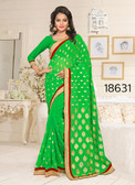 Gorgeous & Stylish Green Colored Georgette Saree