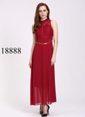 Ultra-chic Red Colored Georegette And Net Gown