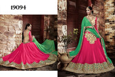 Exquisite & Timeless Pink Colored Premium Georgette Lehenga
