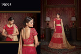 Exquisitely Crafted & Enthralling Red Colored Designer Silk Lehenga