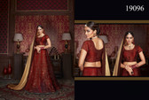 Exquisitely Crafted & Enthralling Maroon Colored Silk Lehenga