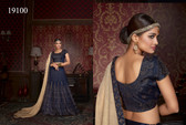 Exquisitely Crafted & Enthralling Blue Colored Silk Lehenga