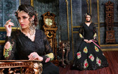 Enchanting Black Color Georgette Fabric Anarkali Suit